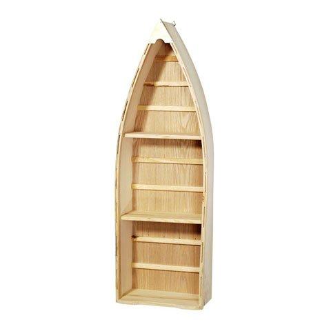 Unfinished Wood 24IN Boat Shelf W 2 OARS (2 Pack))