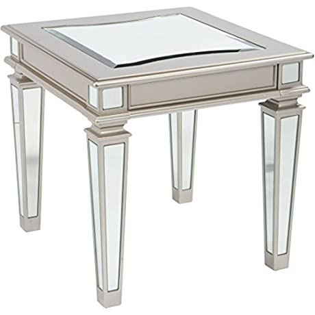 Signature Design By Ashley Tessani Silver Rectangular End Table