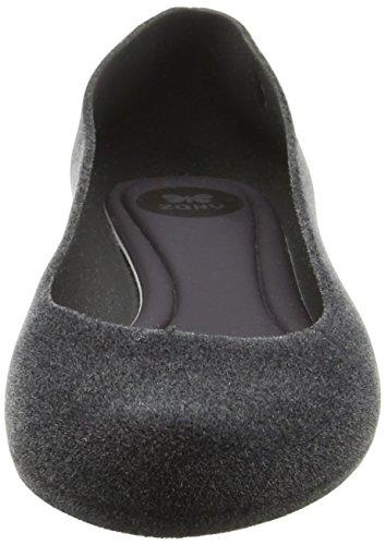 Zaxy Pop Flock 2 - Zapatillas de Ballet Mujer gris oscuro