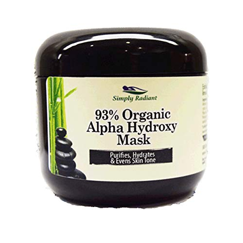 (Organic Alpha Hydroxy Acid & Hyaluronic Acid Face Mask. Tightens in Seconds, Purifies, Hydrates & Evens Skin Tone AHA Acid )