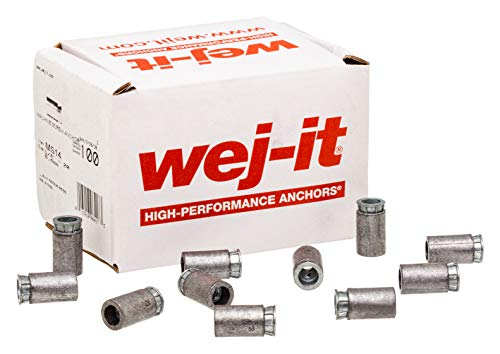 3 Length Wej-It Nail-It DN1430 Drive Anchor 1//4 Diameter 1//4 Diameter 3 Length Pack Of 100 Zinc Plated Finish DN-1430 Pack Of 100 Zamac Alloy Meets GSA FFS-325 Group V Type 2 Class 2 Specifications
