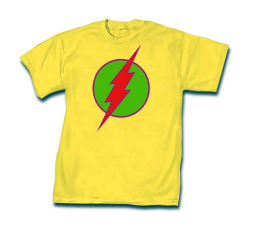 Officially Licensed DC Comics NEO Flash T-shirt, L