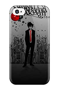 Hot Tpu Cover Case For Iphone/ 4/4s Case Cover Skin - Sasuke In A Suit.