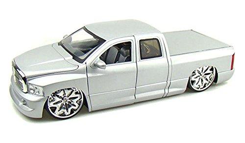 Dodge Ram Pickup Truck, Silver - Jada Toys Dub City 63162 - 1/18 scale Diecast Model Toy Car