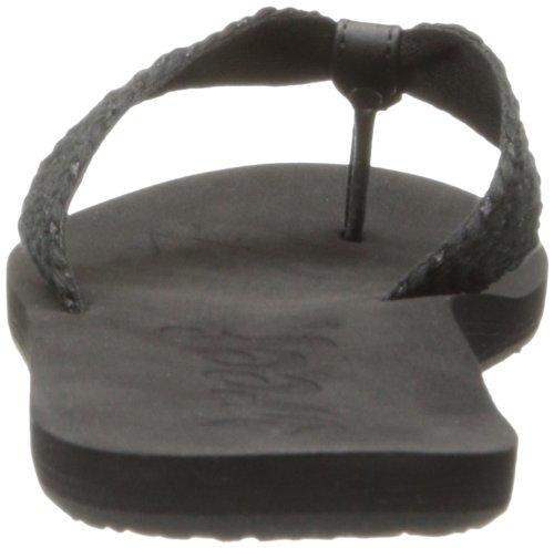 Reef MALLORY SCRUNCH R1212BLA - Chanclas de tela para mujer Negro (BLACK/METALLIC / BML)