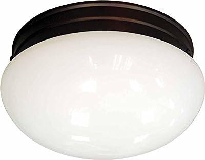 Volume Lighting V7008-79 2-Light Flush Mount Ceiling Fixture, Antique Bronze