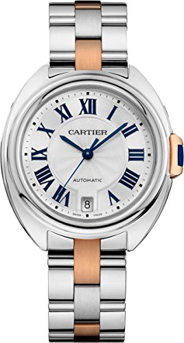 Cartier Cle Mother of Pearl Dial Stainless Steel Quartz Ladies Watch W2CL0003