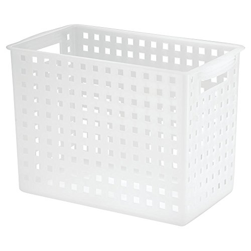InterDesign Modulon Household Storage Basket, Tall, Frost