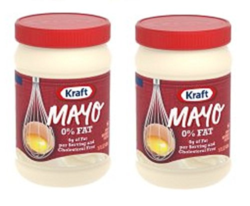 Kraft Mayo Mayonnaise Fat Free, 15 fl oz, Jar (Pack of 2) 0% (Kraft Fat Free Mayonnaise)