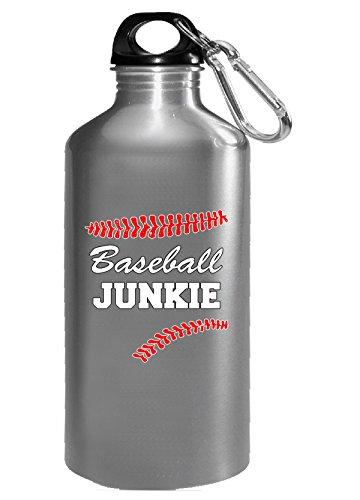 Junkie Baseball (Baseball Junkie Funny Design - Water Bottle)