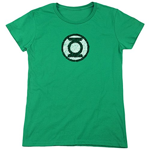 Green Lantern Sketch Logo Superhero Costume Women's T-Shirt Tee -
