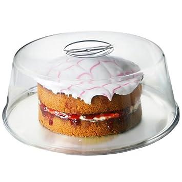 Amazon.com: Plastic Cake Dome - 30cm | Plastic Handled Cake Dome ...
