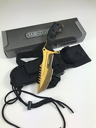 - Wartech HWT202 Series Fixed Blade Tactical Knife, Tanto Blade, 11-Inch Overall (HWT202GD)
