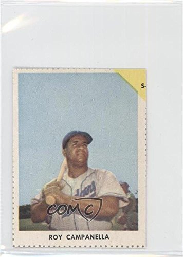 Roy Campanella COMC REVIEWED Authentic (Baseball Card) 1955 Golden Stamps Cleveland Indians Book Cover Cards #ROCA 1955 Golden Stamp