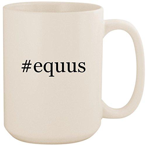 #equus - White Hashtag 15oz Ceramic Coffee Mug Cup