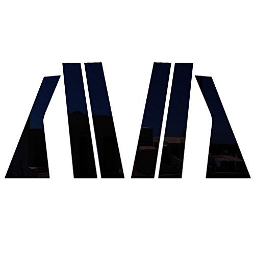 Ferreus Industries Piano Black Pillar Post Trim Cover fits: 2009-2015 Dodge Journey All Models PIL-092-GB ()