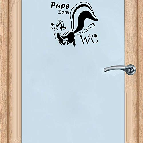MXET Funny Squirre Wc Pups Zone Toilet Sticker Removable Home Decoration Dty Door Stickers