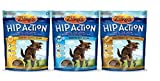 Zuke's Hip Action Daily Hip & Joint Support Moist Treats For Dogs 3 Flavor Variety Bundle: (1) Zuke's Hip Action Roasted Beef Recipe, (1) Zuke's Hip Action Fresh Peanut Butter Formula, and (1) Zuke's Hip Action Roasted Chicken Recipe, 6 Oz. Ea. (3 Bags Total) For Sale