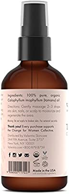 Valentia Organic Tamanu Oil 4 Ounce Unrefined