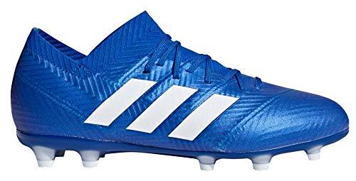 adidas Kids Nemeziz 18.1 Firm Ground Soccer Cleats (6) Blue