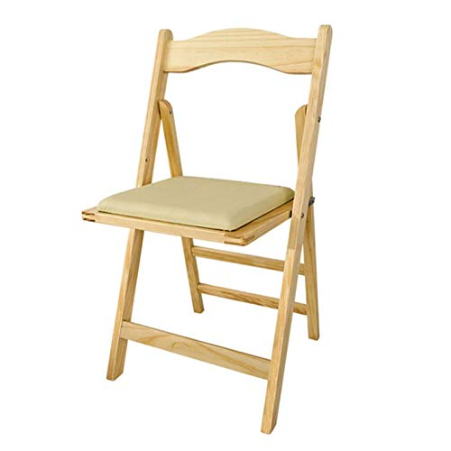 SoBuy® Sillla plegable, silla, sillla de madera, silla de cocina, silla de comedor, color: natural, FST06-N