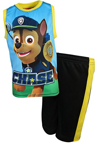 Nickelodeon Paw Patrol Boys 2-Piece Sublimation Tank Top and Shorts Set, Chase, Size 4T'