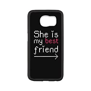 FLYBAI I Love This Girl and Guy Couples She¡¯s My Best Friend Phone Case For Samsung Galaxy S6 G9200 [Pattern-5]