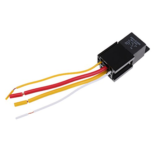 MagiDeal Car Automotive Truck 4 Pin 12V 80 Amp SPDT NC Relay And Harness Socket