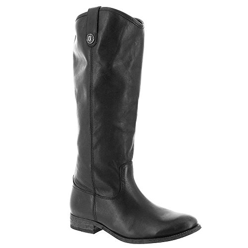 FRYE Women's Melissa Button Boot, Black Washed Antique Pull-Up, 10 M (Black Leather Woman Boot)