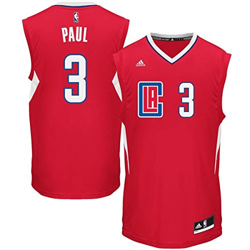 Chris Paul Los Angeles Clippers #3 NBA Youth Road Jersey Red (Youth Small 8)