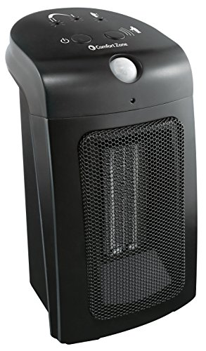 Comfort Zone Motion Sensor Ceramic Heater, W, Black For Sale