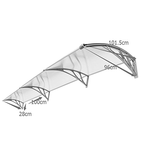 40'' x 120'' Outdoor Polycarbonate Front Door Window Awning Patio Cover Canopy