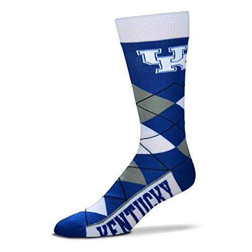 Ncaa Kentucky Wildcats Wildcat - NCAA Kentucky Wildcats Argyle Unisex Crew Cut Socks - One Size Fits Most