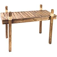 Wooden Sofa Table w/ Fishermans Rope