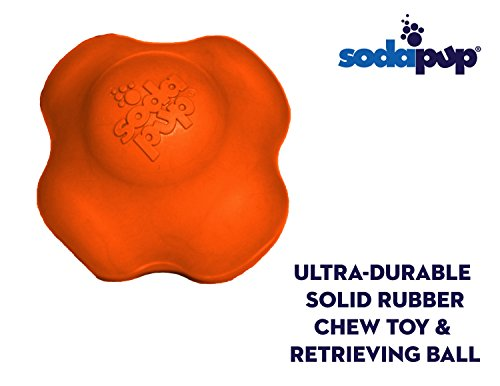 SodaPups Crazy Bounce Dog Toy is an Ultra-Durable Natural Rubber Dog Toy Designed for Aggressive Chewers, This Solid Rubber Ball is Proudly Made in The USA