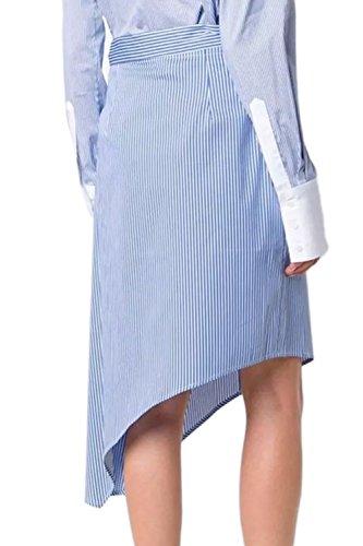 Elegante solo Breasted faldas de la mujer con correa Blue
