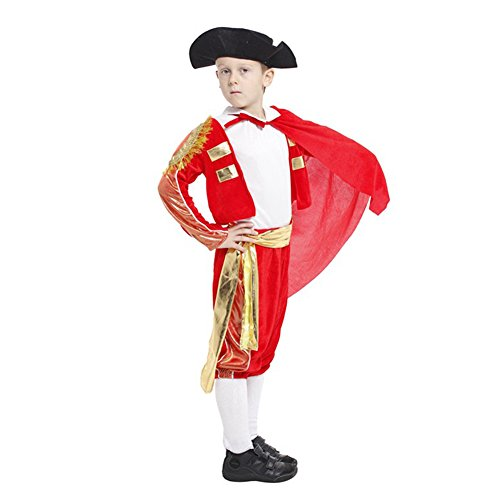 DREAMOWL 6PCS Halloween Kids Costumes Matador Costume Stage Performance Clothing (M)