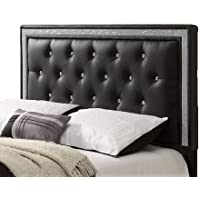 Williams Home Furnishing 89846 Breen Queen Headboard, Black