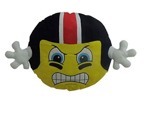 (Goffa American Football Player Emoji with Black Helmet Cushion Pillow Stuffed Plush, 22