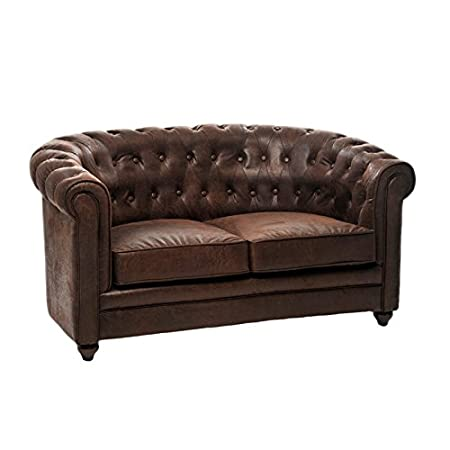 Marvelous Antique Leather Chesterfield Sofa Chazy L 133 X B 78 X H Download Free Architecture Designs Aeocymadebymaigaardcom
