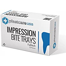 Disposable Posterior Bite Registration Tray Dental Impression Trays w// Nylon Net Starryshine