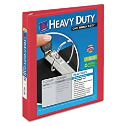 Heavy-Duty View Binder with One Touch EZD Rings, 1\