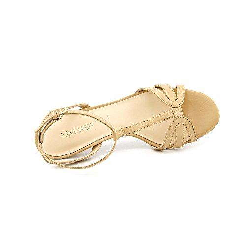 Nine West Odarlin sandalias de vestir de cuero de los zapatos Lt Natur