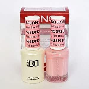 DND Daisy Duo Set Soak off Gel & Matching Nail Polish #593 Pink Beauty 18ml/each