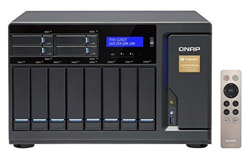Qnap 12 Bay Thunderbolt 2 Das/NAS/iSCSI Ip-San, Intel Skylake Core i7 3.4GHz Quad Core (TVS-1282T-i7-32G-US) by QNAP