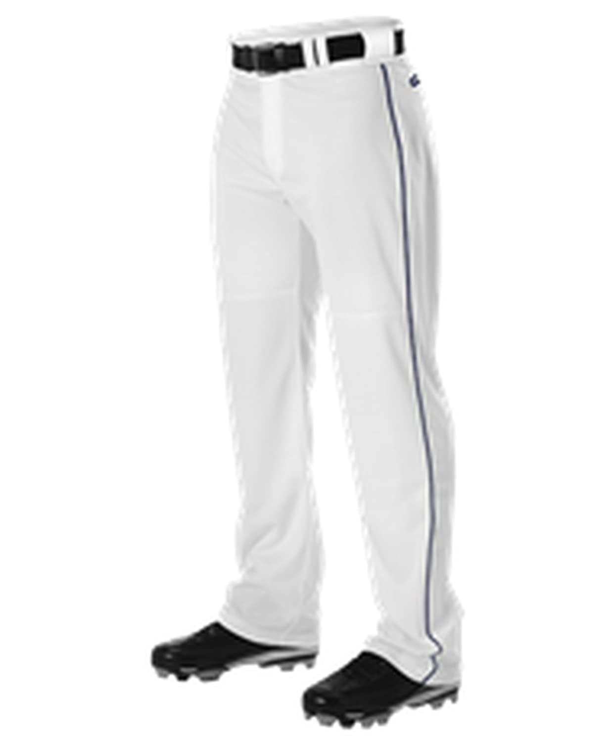 Alleson Athletic PANTS メンズ B0755YZGGYWhite, Navy Large