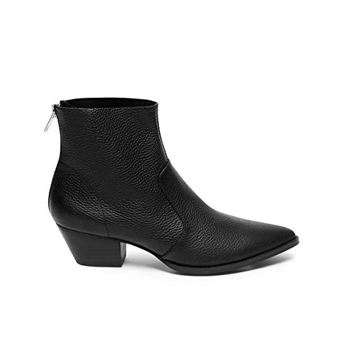 Mujer Madden black Para Leather Botines 017 Steve Cafe Negro Ankleboot Xq0wxdv