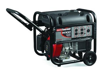 amazon com coleman powermate pm0435003 5 000 watt 10 hp portable rh amazon com coleman powermate 6250 generator specs Coleman Powermate 5000 Generator Carburetor