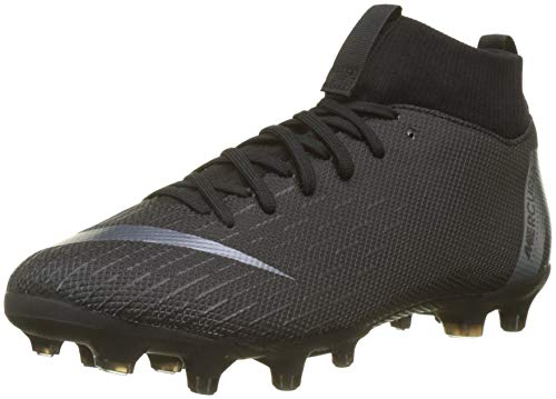 Nike JR Mercurial Superfly 6 Academy GS MG Soccer Cleat (Black) (2.5Y)