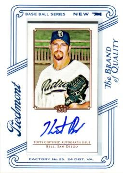 2010 Topps T206 #TA-HB Heath Bell Certified Autograph Baseball Card